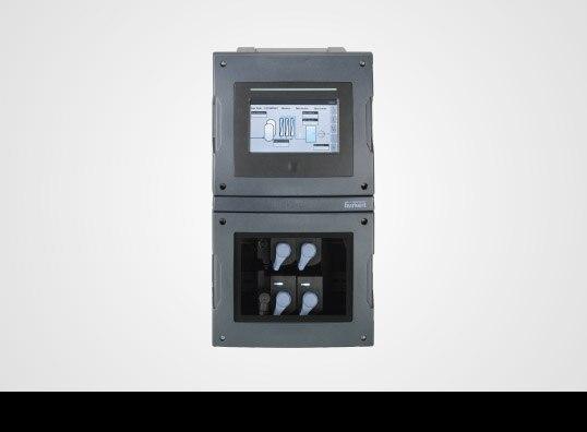 Online-Analyse-Systems 8905 auf grauem Hintergrund