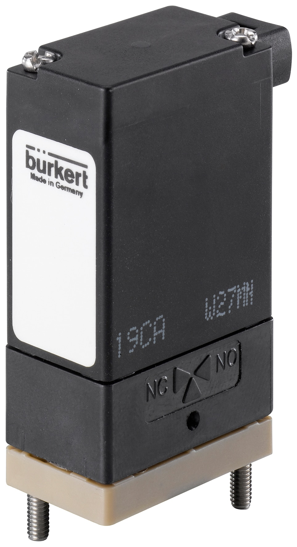 Direct-acting 2/2 or 3/2 way Rocker-Solenoid Valve with separating diaphragm