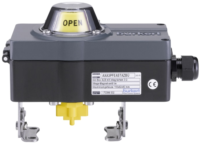 Type accessory for pneumatic rotary actuators