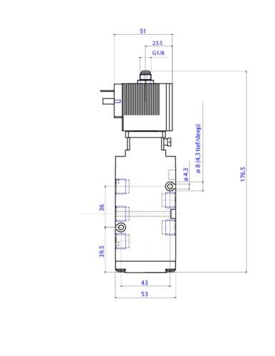 132466 - 5/2-way-pneumatic valve 32 mm / 5/2 way valves / Pneumatic on 4-way ball valve diagram, 4-way directional valve, 4-way pneumatic valve, 4-way valve symbol, pilot operated solenoid valve schematic, 4-way air valve schematic, 4-way ball valve schematic,